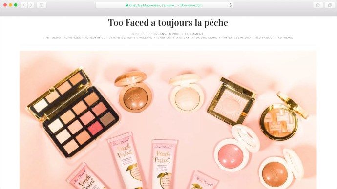 too faced avis