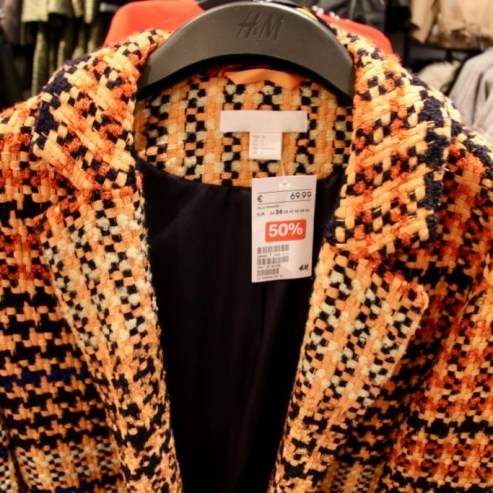manteau tweed orange