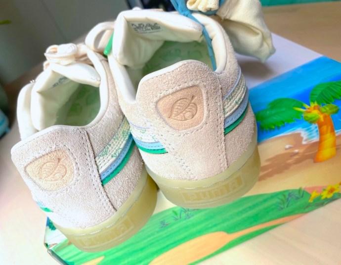 leaf animal crossing back sneakers
