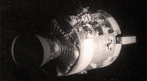 Apollo 13 Service Module damage