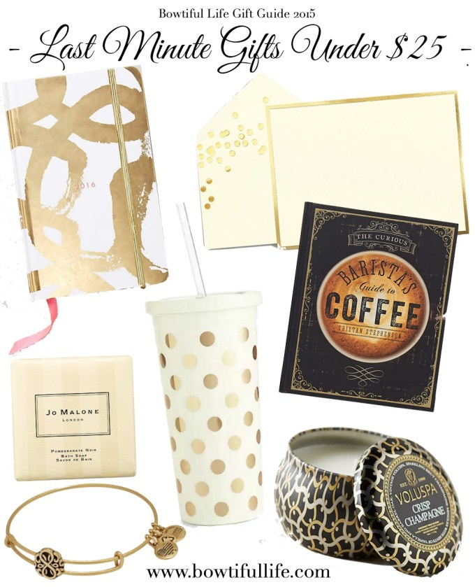 Bowtiful Life Gift Guide 2015 - Last Minute Under $25