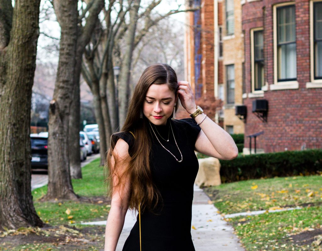 Pearl-fect Accents for a Little Black Dress