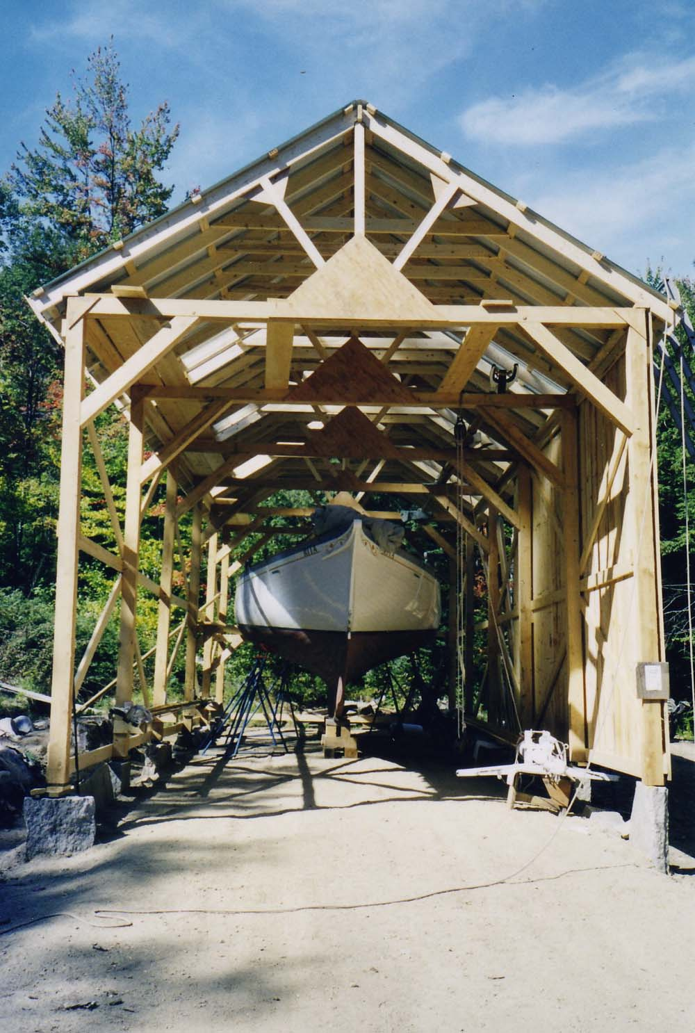 Boat shed construction