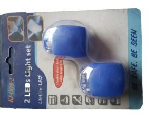 Мигалки на руль силиконовые пара синие
