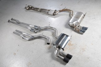 Audi TT Mk2 TTS quattro   2008 - 2014    Cast Downpipe with 200 cell HJS High Flow Cat.