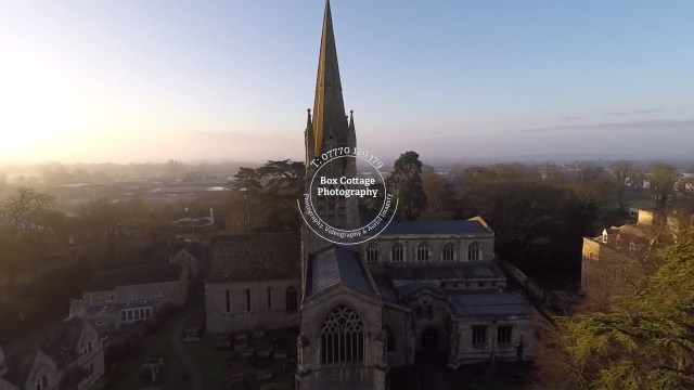 aerial photographs witney st marys church