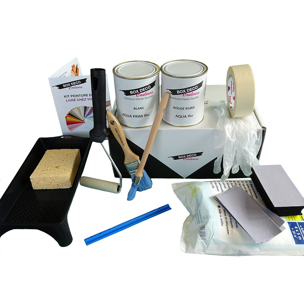 peinture meuble bois exterieur kit complet box deco. Black Bedroom Furniture Sets. Home Design Ideas