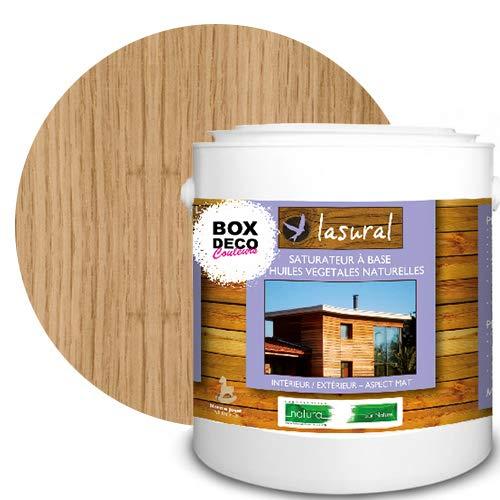 Saturateur bois intérieur et extérieur Lasural NATURA- 7 teintes naturelles bio 7 teintes - 3L