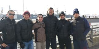 Foto Bihes Barakat mit Gennady Golovkin und Team