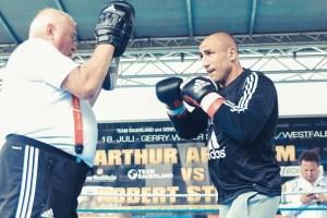 Pressetraining Arthur Abraham vs. Robert Stieglitz - Ulli wegner und Arthur Abraham