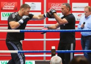Öffentliches Training in Magdeburg - Ruslan Chagaev