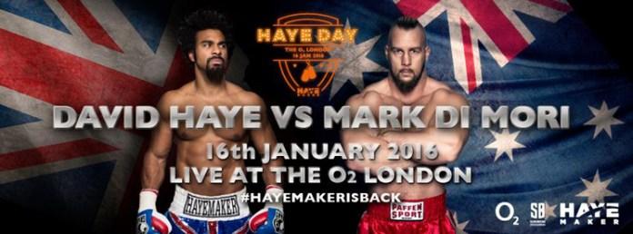 David Haye gegen Mark De Mori/Foto: Facebook