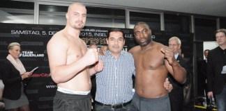 Adrian Granat, Erol Ceylan und Michael Sprott / Foto: EC Boxing