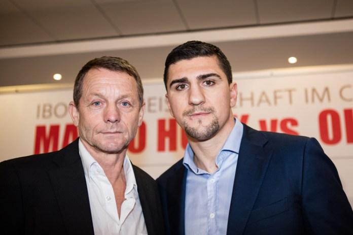 Trainer Konrad Mittermeier und Marco Huck / Foto: HSP