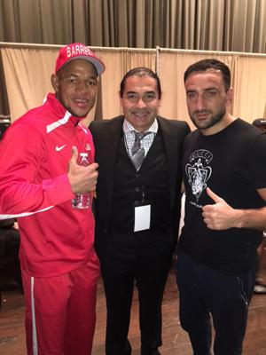 Sullivan Barrera, Erol Ceylan und Karo Murat / Foto: EC Boxing