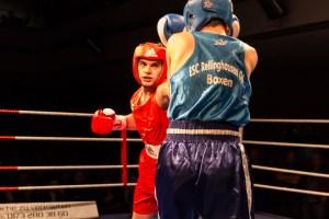 Ali Ahmet Tireng, ASV Bocholt, PS über Luan Djemailji, Rellinghausen / Foto: Mariusz Ginel, go4boxing.com