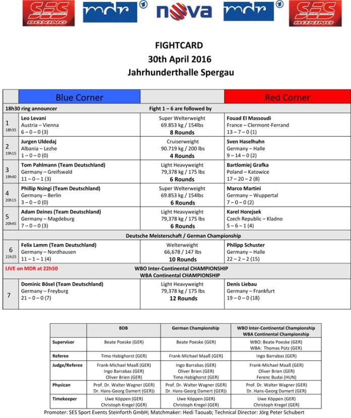 SES-Fightcard 30.04.16