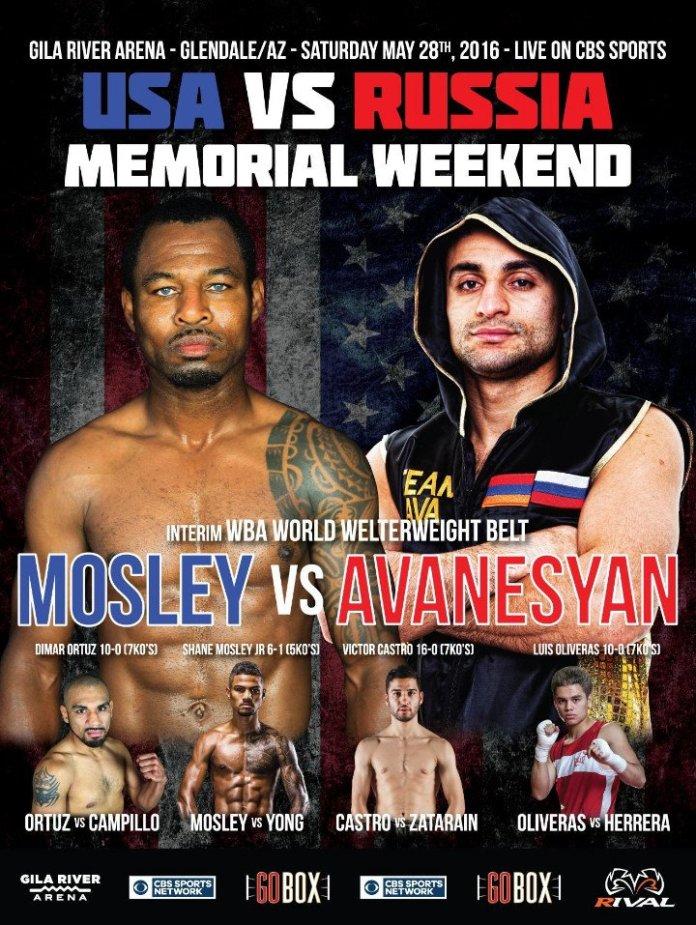 Shane Mosley vs. David Avanesyan_Plakat