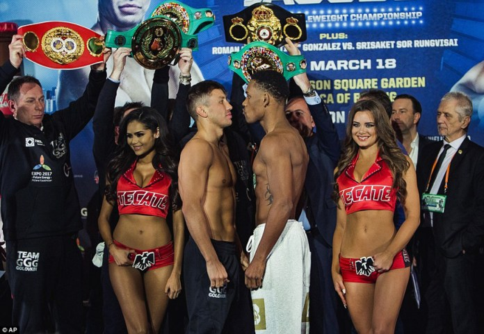Golovkin vs Jacobs weigh in
