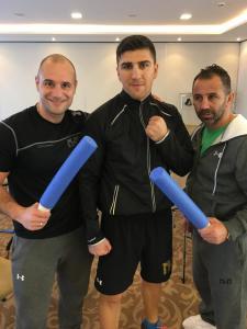 Varol Vekiloglu, Marco Huck und Oktay Urkal (Foto: HSP)
