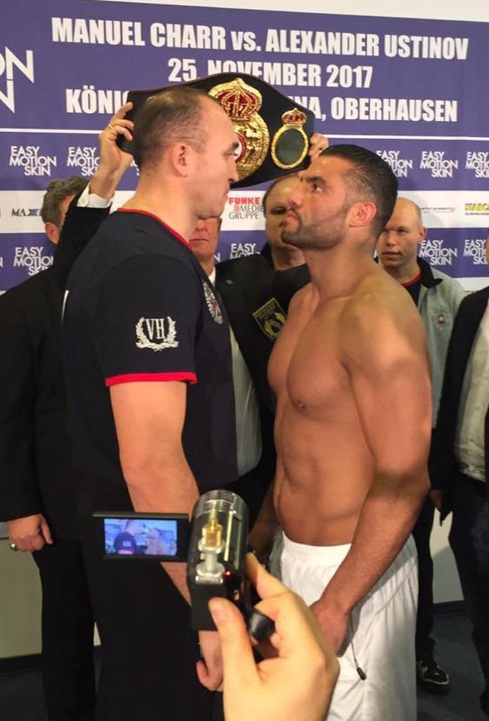 Charr vs Ustinov weigh in 2