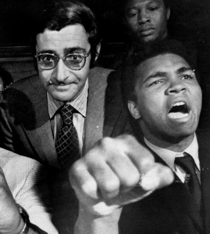 Bob Arum mit Box-Legende Muhammad Ali mit dem Arum viele Kämpfe promotete.