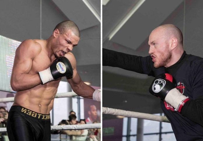 Chris Eubank Jr. und George Groves beim Pressetraining vor ihrem WBSS-Fight / Fotos: WBSS