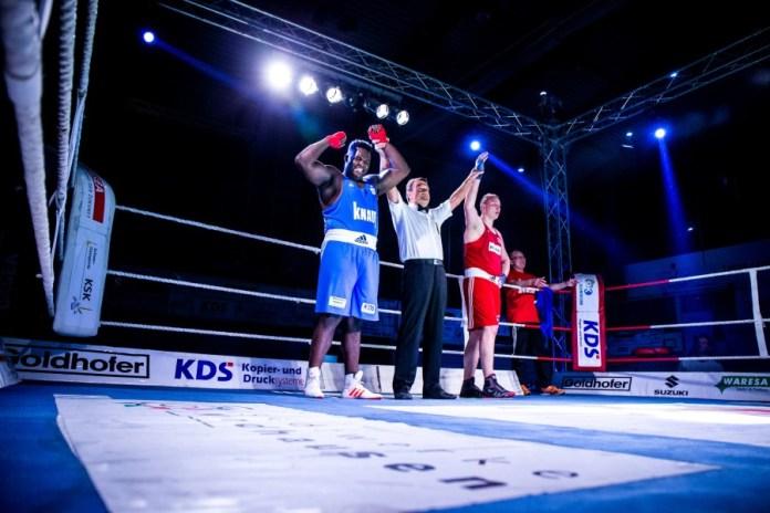 Keinen Sieger im Superschwergewicht sahen die Zuschauer in Nordhausen. Für den Rückkampf steht Nelvie Tiafack (links-NSV) nicht zur Verfügung / Foto: Christoph Keil