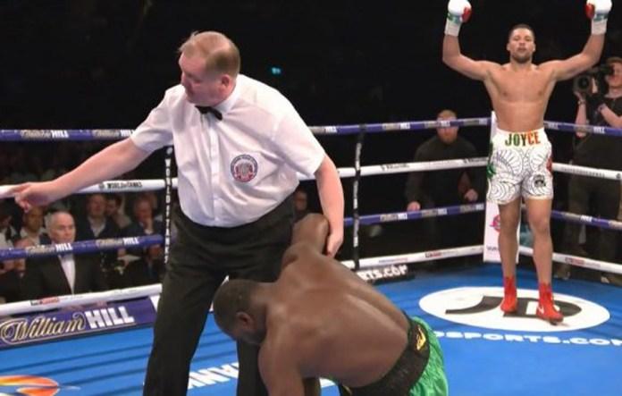 In seinem letzten Kampf knockte Joyce im Kampf um den Commonwealth-Titel den Titelverteidiger Lenroy Thomas schon in der 2. Runde aus
