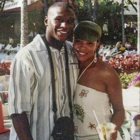 Floyd Mayweather Jr. zusammen mit Josie Harris