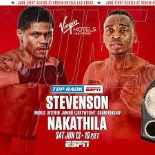 Shakur Stevenson vs Jeremiah Nakathila Poster 1