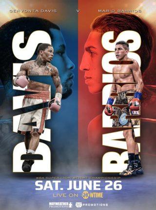 Mario Barrios vs Gervonta Davis Fight Poster