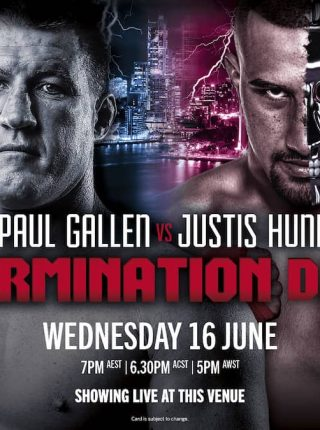 Justis Huni vs Paul Gallen Poster