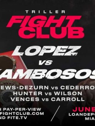 Teofimo Lopez vs George Kambosos Jr Poster