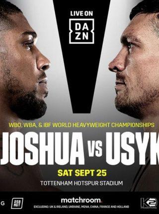 DAZN überträgt am 25. Oktober weltweit den Kampf Anthony Joshua vs Oleksandr Usy