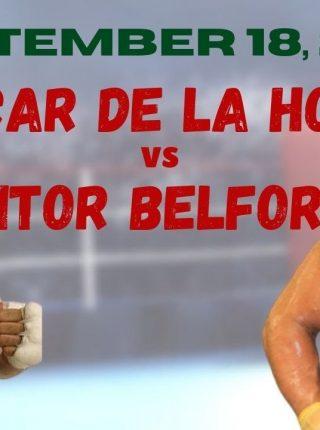 Oscar De La Hoya vs. Vitor Belfort Poster 2