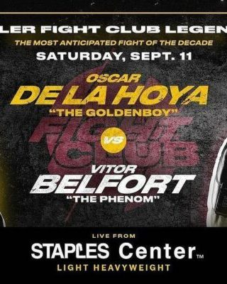 Oscar De La Hoya vs. Vitor Belfort Poster
