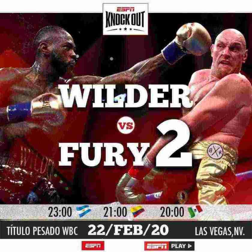 ESPN KNOCKOUT presenta WILDER VS FURY 2