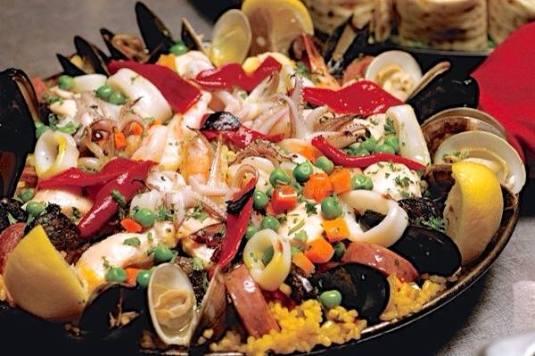 Spanish Paella is a popular dish.