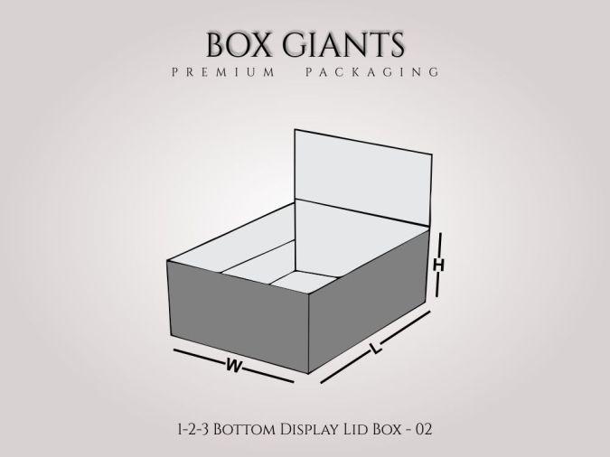 Custom Printed 1-2-3 Bottom Display Lid Boxes