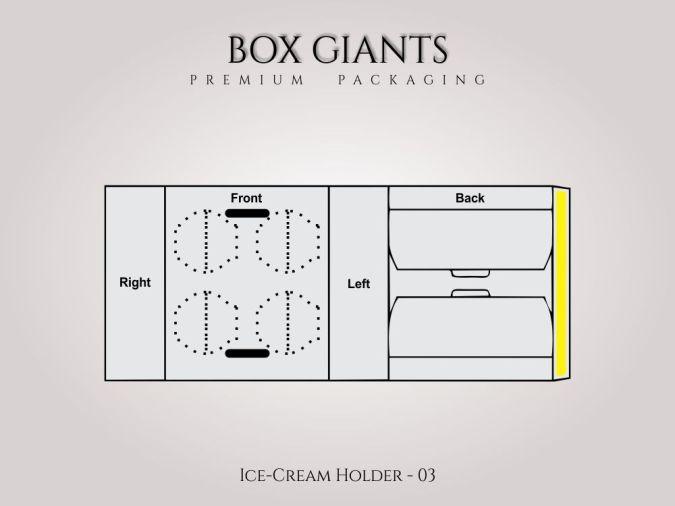 Custom Printed Ice Cream Holder