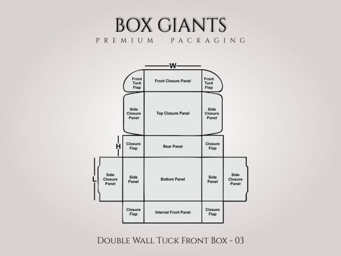 Custom Printed Double Wall Tuck Front Boxes