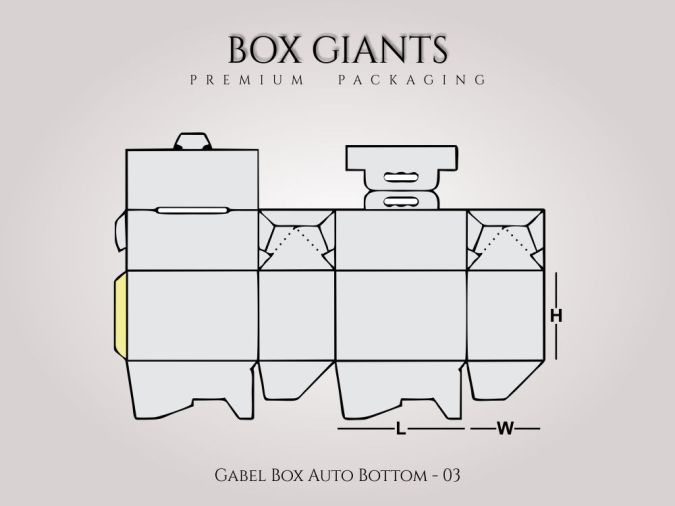 Custom Printed Gable Box Auto Bottom