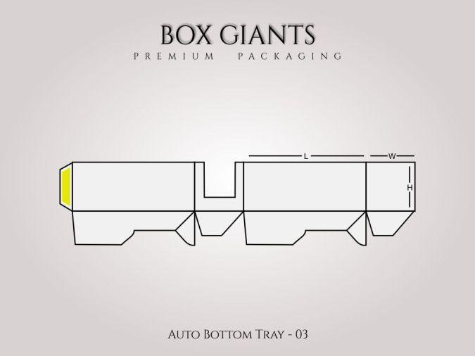 Custom Printed Auto Bottom Tray