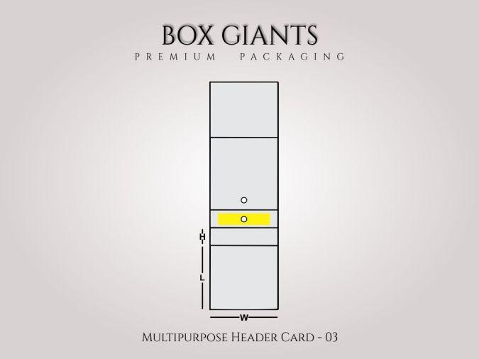 Custom Printed Multipurpose Header Card