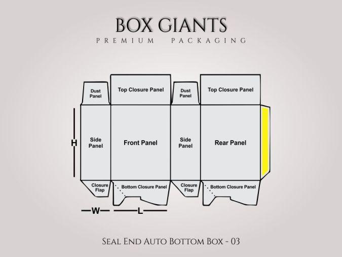 Custom Printed Seal End Auto Bottom Boxes