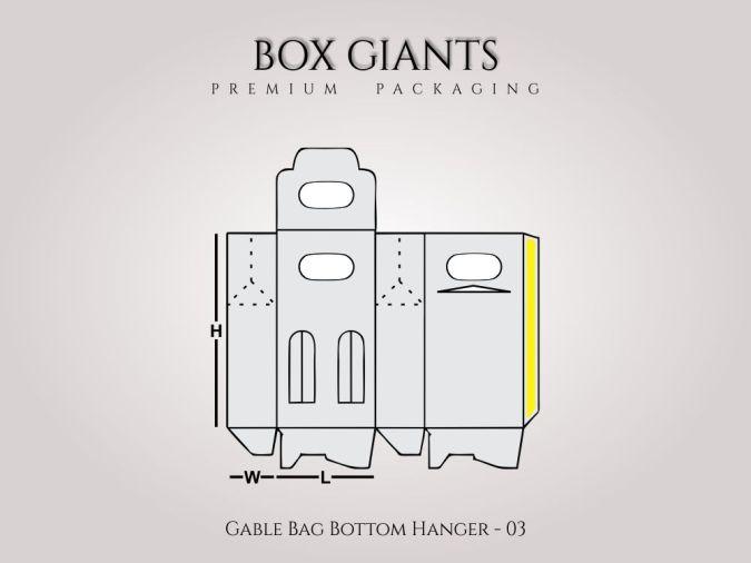 Custom Printed Gable Bag Bottom Hanger