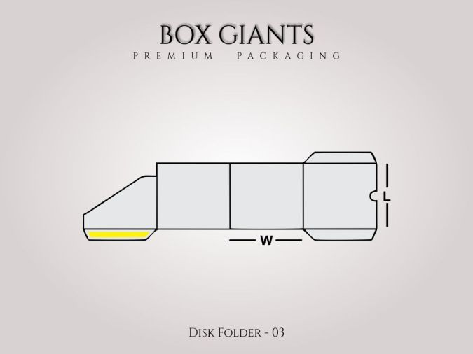 Custom Printed Disk Folder