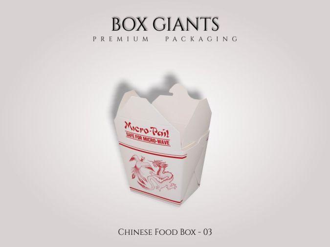 Custom Printed Chinese Food Boxes