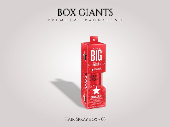 Custom Printed Hair Spray Boxes